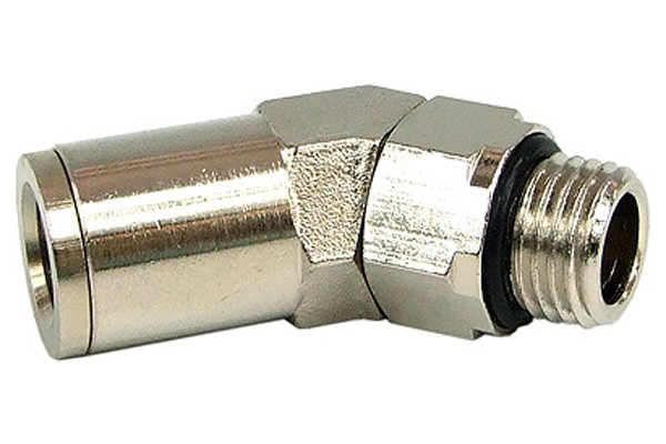 10mm G1/4 plug-in fitting 45° revolvable- completely nickel plated