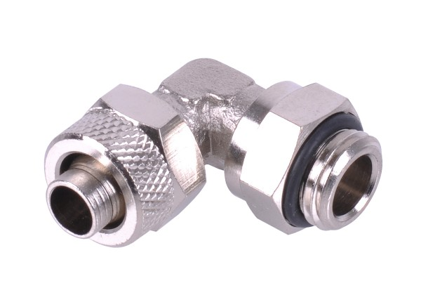 10/8mm (8x1mm) compression fitting G1/4 90° revolvable