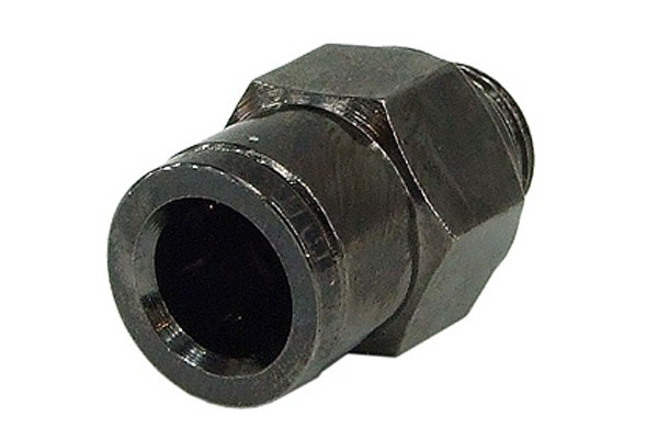 8mm G1/8 Plug fitting - black nickel plated