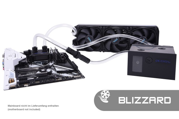 Alphacool Eissturm Blizzard Copper 45 3x120mm - complete kit