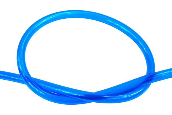 "Masterkleer tubing PVC 19/13mm (1/2""ID) UV-active blue"